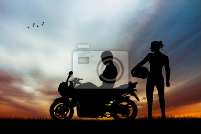 pair of motorcyclists