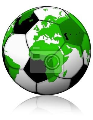 Pallone Calcio-Mappamondo