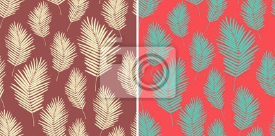 Wall mural Palm leaves pattern