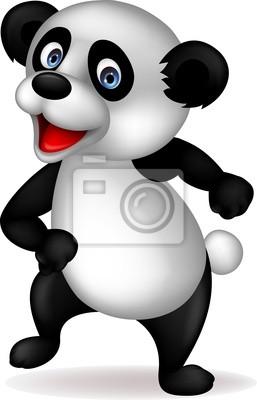 Wall mural Panda cartoon dancing
