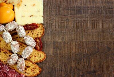 Wall mural Pane,salumi e formaggi