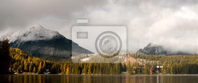 Panorama górskiego jeziora