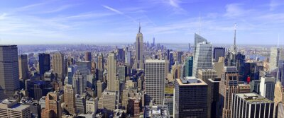Wall mural Panorama of Manhattan skyline in New York City, USA