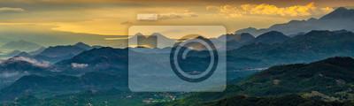 panorama of mountains surrounding Skadar Lake, Montenegro