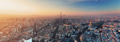 Wall mural Panorama of Paris at sunset