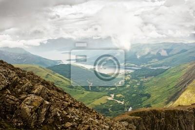 Panorama of Scottish higlands above Glen Coe