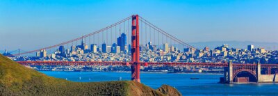 Wall mural Panorama of the Golden Gate bridge and San Francisco skyline