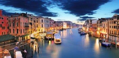 Wall mural Panorama of Venice from Rialto bridge