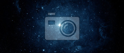 Panoramic beautiful night sky and star. Abstract background. Elements of this image furnished by NASA.