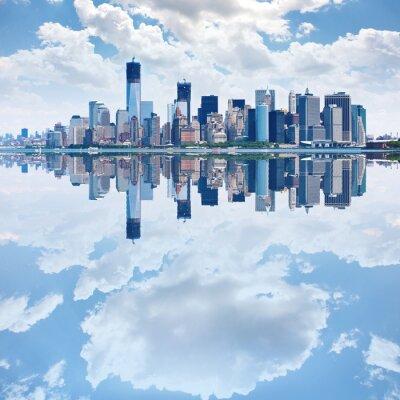 Wall mural Panoramic image of lower Manhattan skyline
