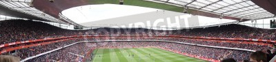 Wall mural Panoramic View of Arsenal V Chelsea 0-0 draw football/soccer match played on 21st April 2012, Emirates Stadium,  London, England
