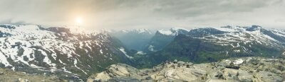 Wall mural Panoramic View On Norway Mountain Landscape