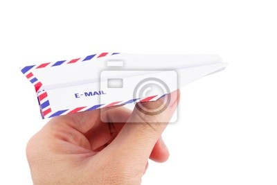 paper airplane email concept