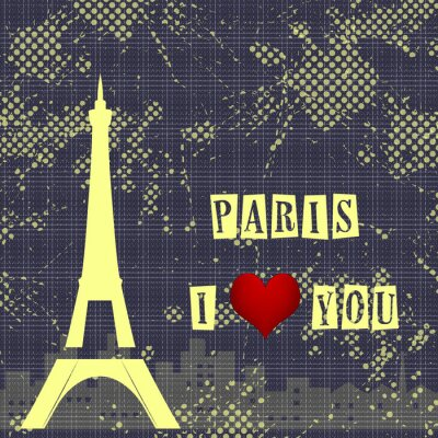 Wall mural Paris - a city of love and romanticism