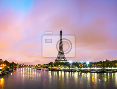 Wall mural Paris cityscape with Eiffel tower