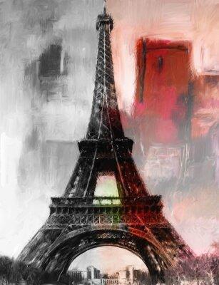 Wall mural Paris Gemälde Eiffelturm Eifelturm Bild Kunst Ölgemälde