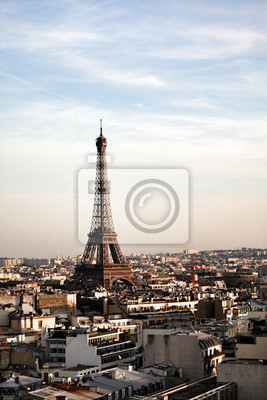 Paris-The Eiffel Tower as view from the Arc de triomphe