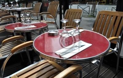 Parisian cafe terrace