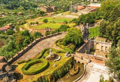 Park with fountains at Villa d'Este in Tivoli