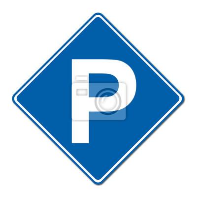 Parking traffic sign