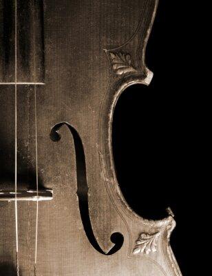 Wall mural Part of vintage violin