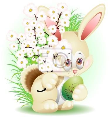 Pasqua Coniglio Fiori di Pesco-Easter Rabbit Peach Blossoms
