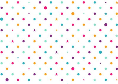 Wall mural Pastel Colorful Dots White Background Vector Illustration