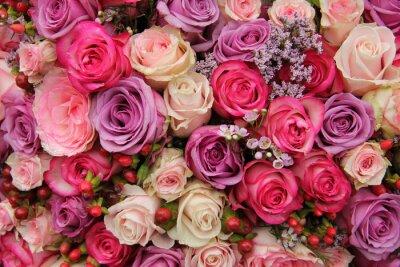 Wall mural Pastel wedding flowers