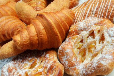 Wall mural pastries