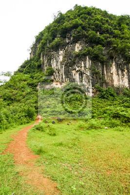 path leading to karst mountain