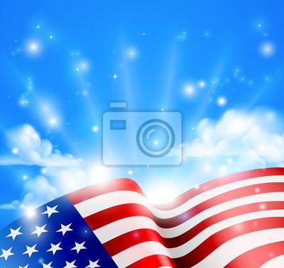 Patriotic American Flag Design