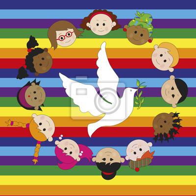 Wall mural peace