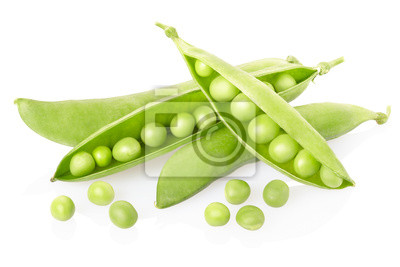 Wall mural Peas on white, clipping path included
