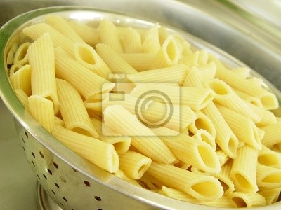 penne pasta cooked