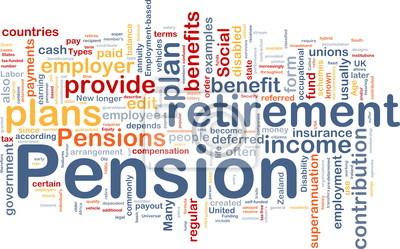 Pension background concept
