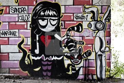 Wall mural Personnage graffiti