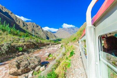 Wall mural Peru Rail from Cuzco to Machu Picchu Peru