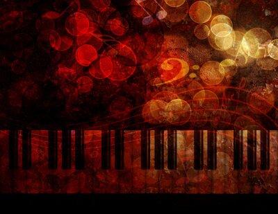 Wall mural Piano Keyboard  Grunge Background Illustration