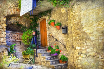 Wall mural pictorial old streets of Italian villages