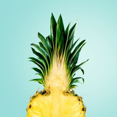 Wall mural Pineapple, Fruit, Isolated.