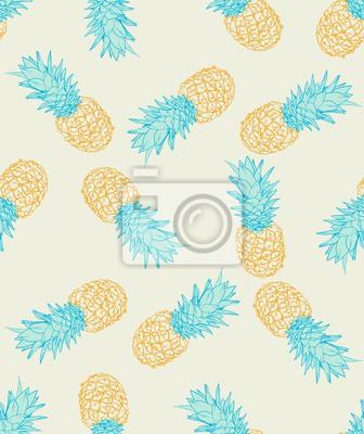 Wall mural Pineapple pattern