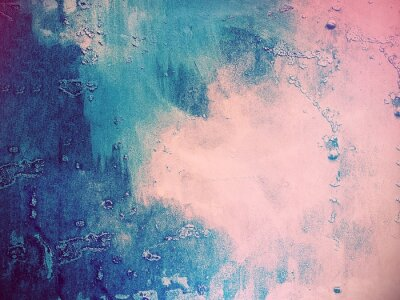 Wall mural Pink and blue abstract background