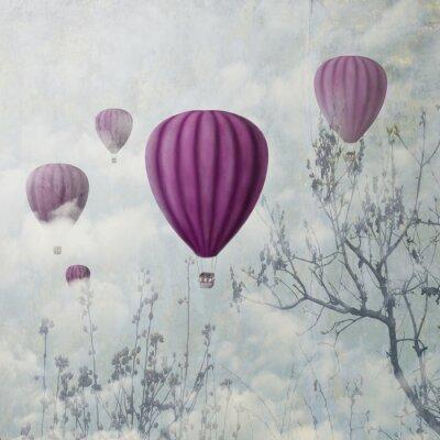 Wall mural Pink Balloons