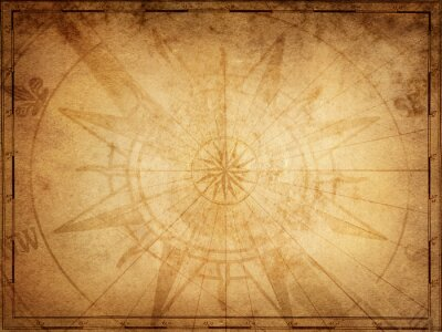Wall mural Pirate and nautical theme grunge background