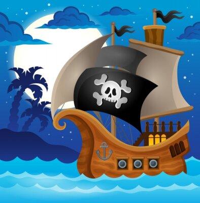 Wall mural Pirate ship topic image 2