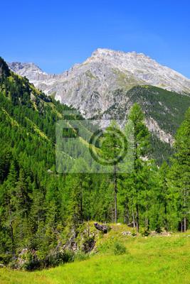 Piz Ela in Switzerland Alps - canton Graubunden.