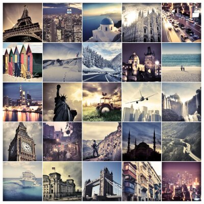 Wall mural Places in the world