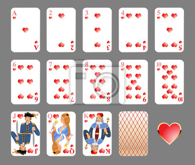Playing cards - heart suit