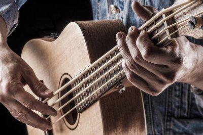 Wall mural playing ukulele bass