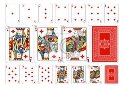 Poker size Diamond playing cards plus reverse